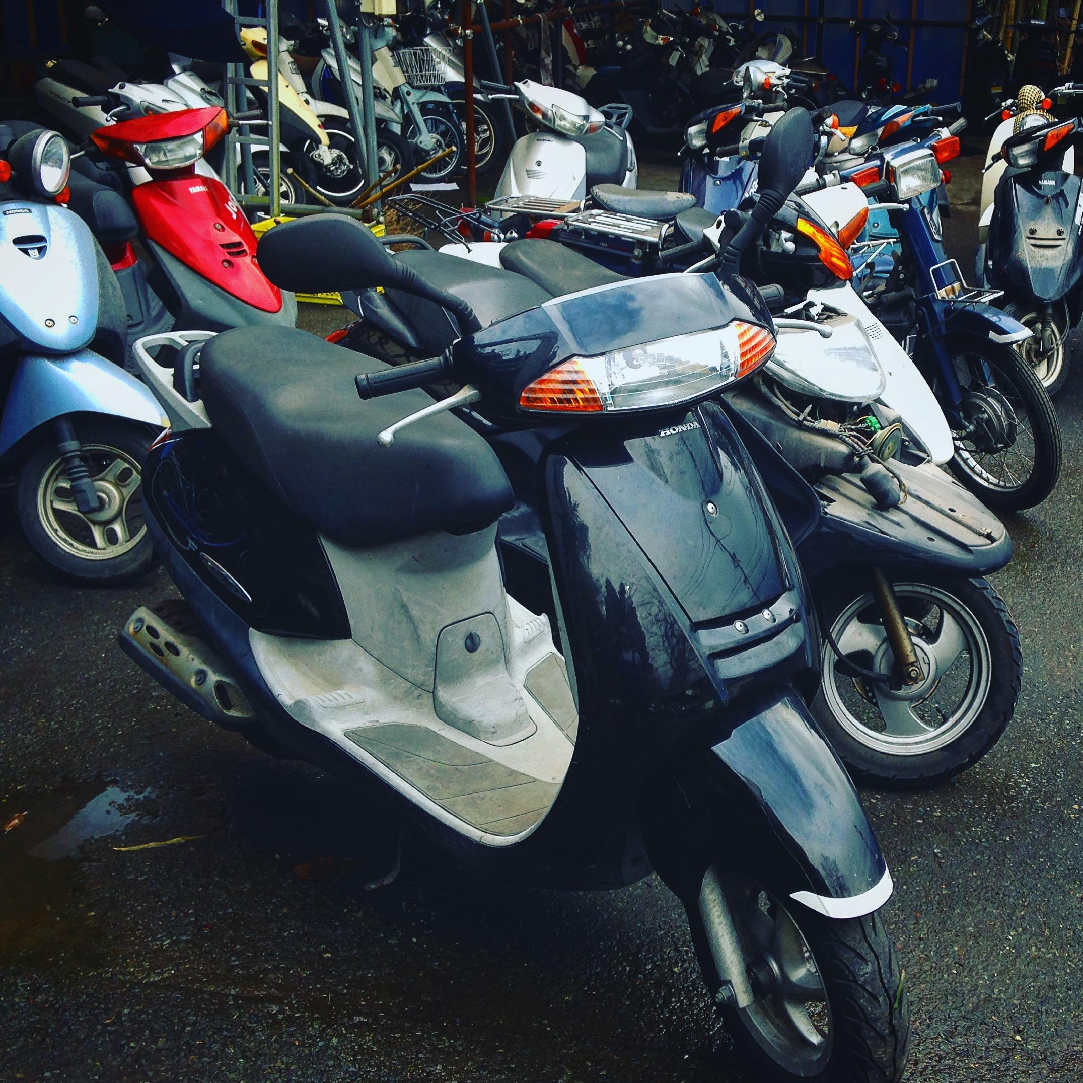 買取処分バイクスクーター、熊本から輸出、みのまるバイク
